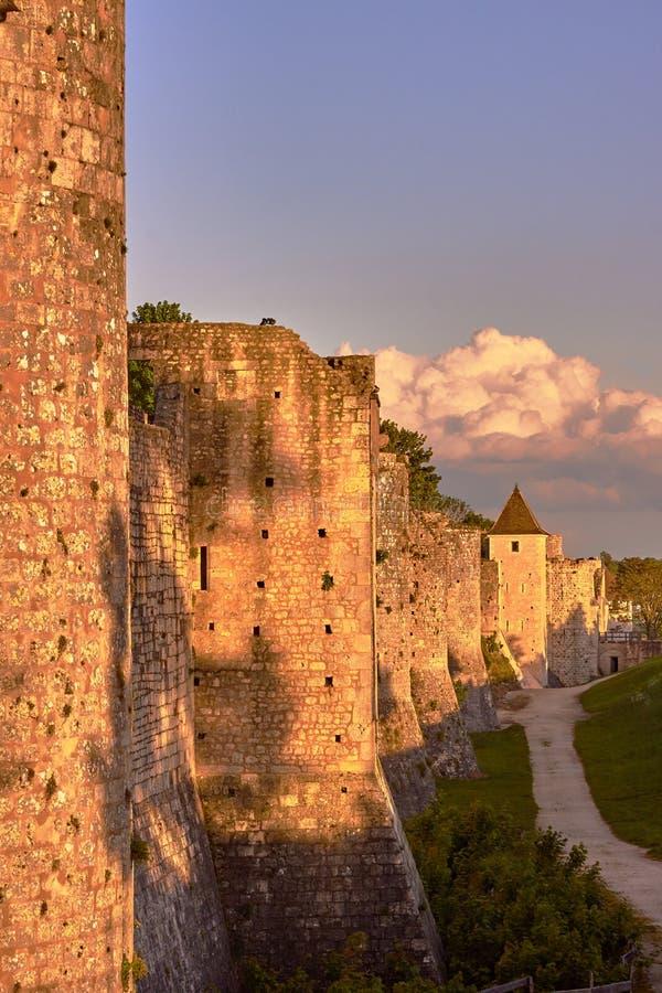 Średniowieczny góruje i ramparts w Provins fotografia royalty free