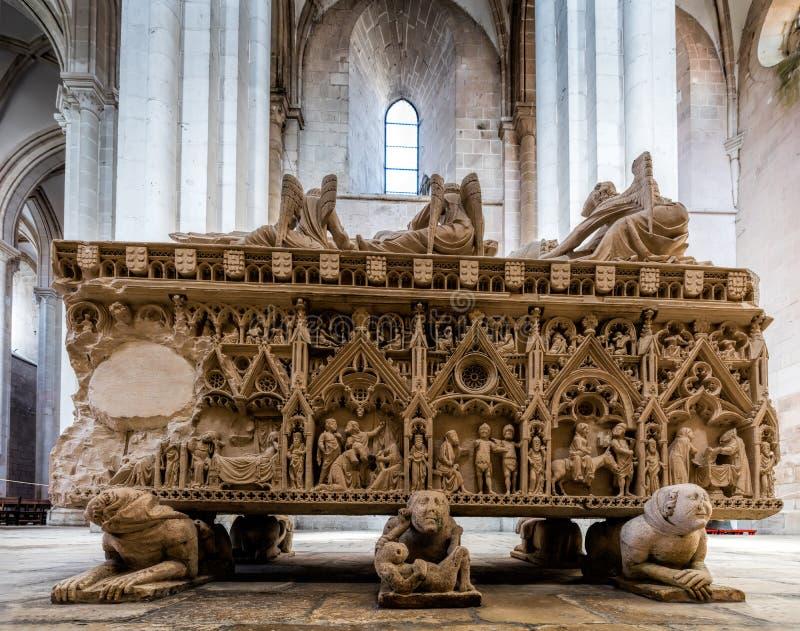 Średniowieczny grobowiec królewiątko Pedro Ja Portugalia obraz stock