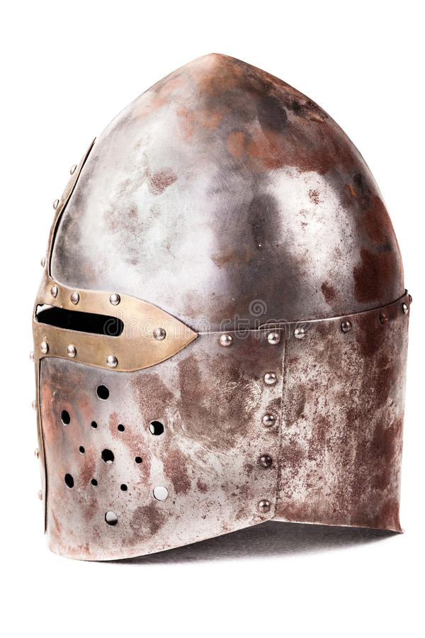Średniowieczny hełm obraz stock