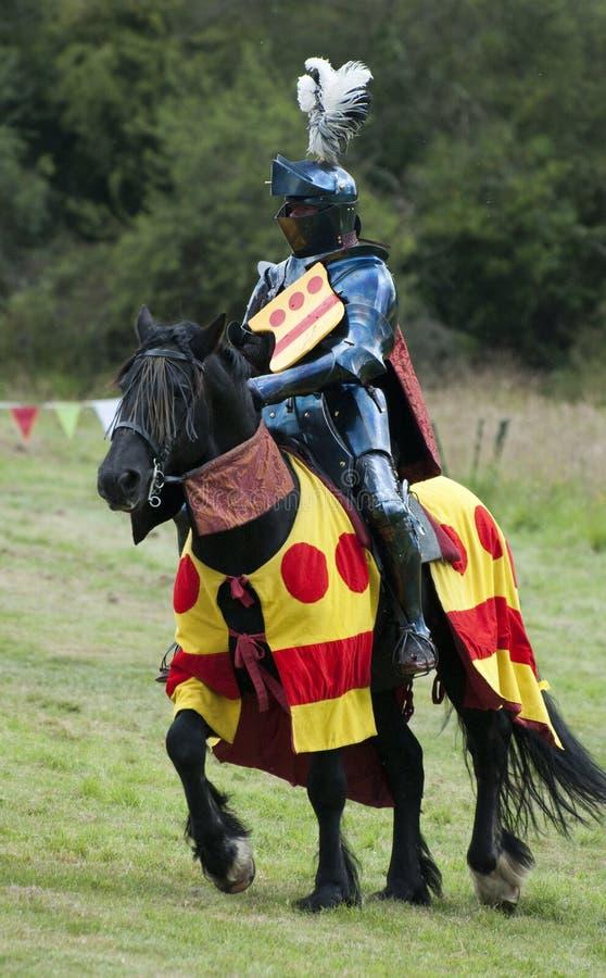 średniowieczny joust turniejowy rycerz obraz stock