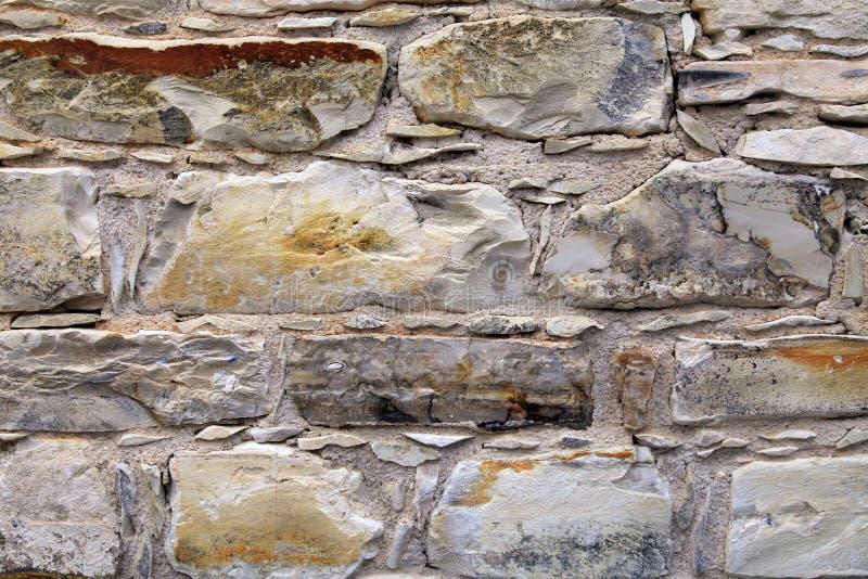 Średniowieczny kamiennej ściany textured tło fotografia stock