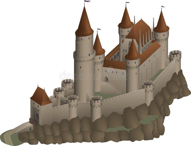 Średniowieczny kasztel ilustracja wektor