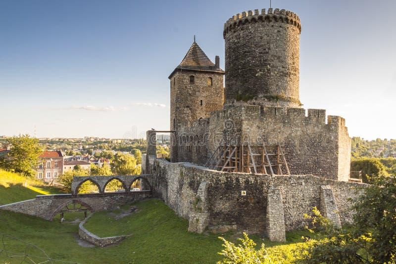 Średniowieczny kasztel - Bedzin, Polska obraz stock