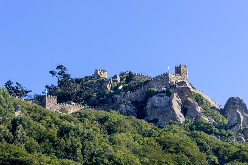 Średniowieczny kasztel Cumuje, Sintra zdjęcie stock