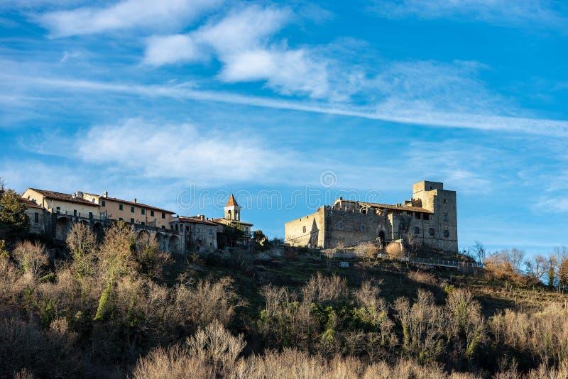 Średniowieczny kasztel Lusuolo, Mulazzo - Tuscany Włochy fotografia royalty free