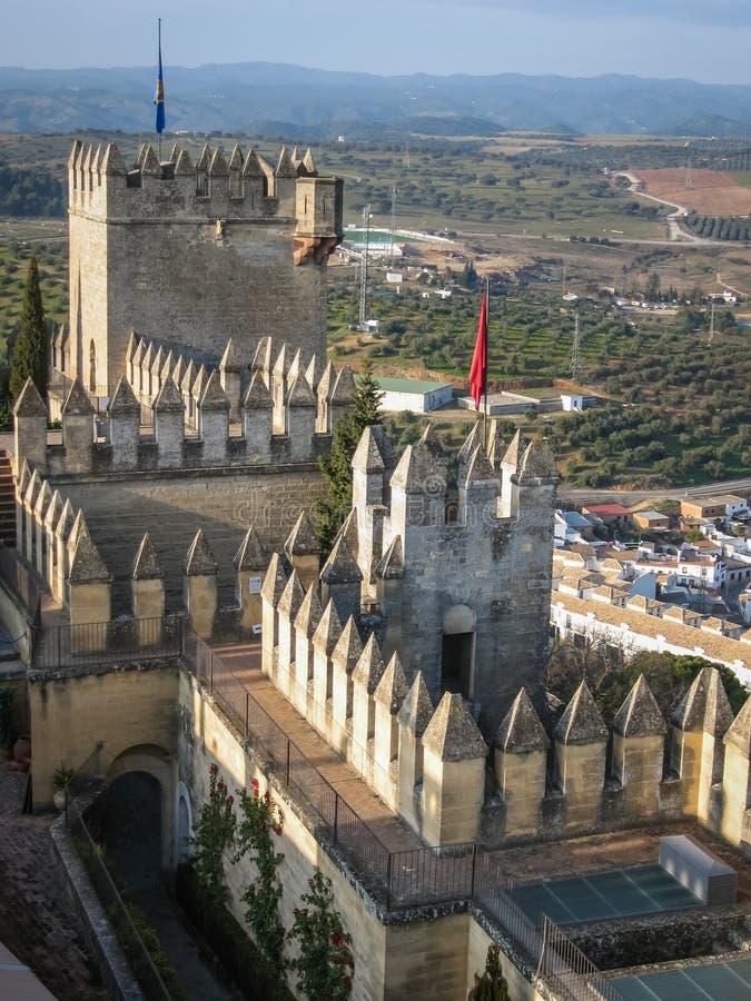 Średniowieczny kasztel przy Almodovar del Rio, cordoba, Andalusia, Hiszpania fotografia royalty free