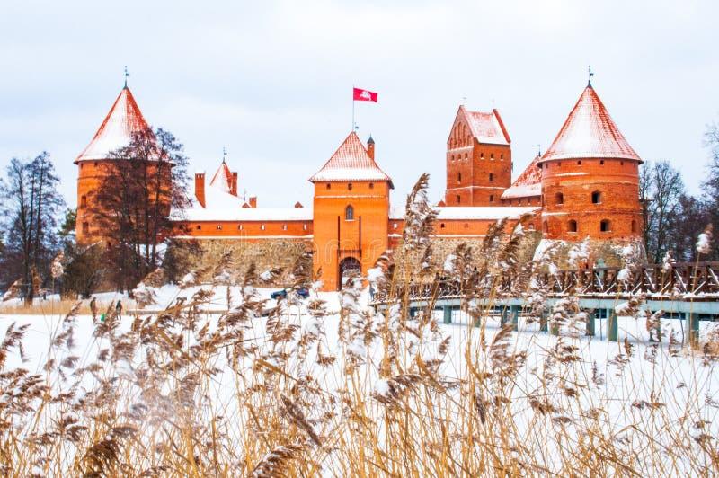 Średniowieczny kasztel Trakai, Vilnius, Lithuania obraz royalty free