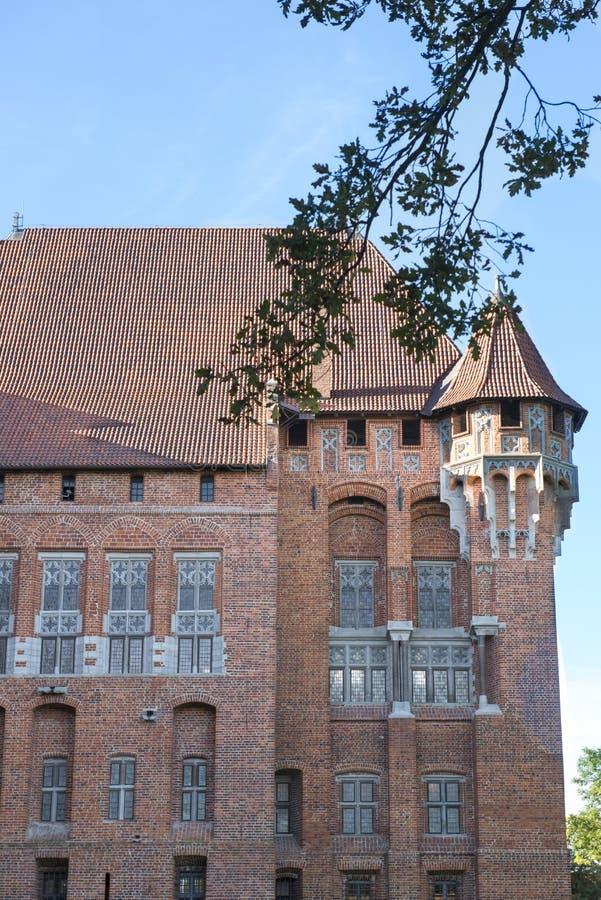 Średniowieczny kasztel w Gdańskim zdjęcie stock