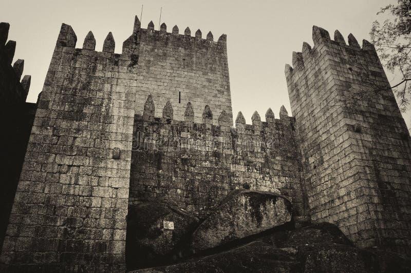 Średniowieczny kasztel w Guimaraes zdjęcia stock