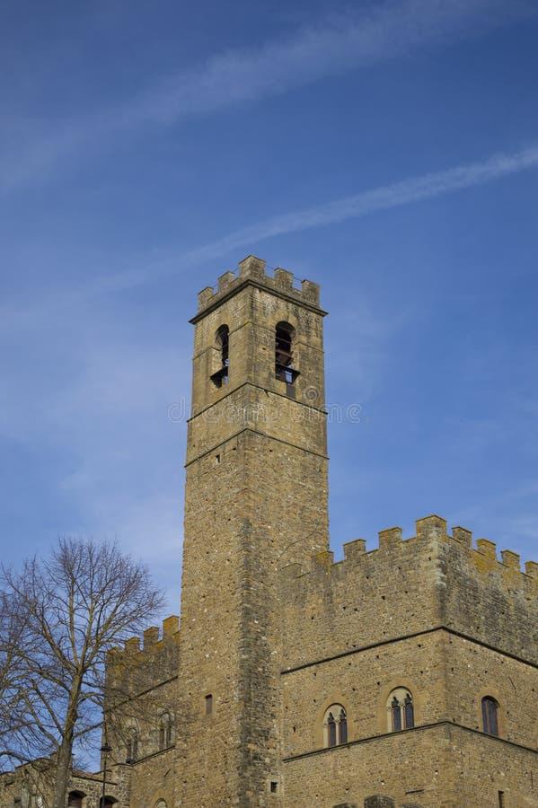 Średniowieczny kasztel w poppi Tuscany fotografia royalty free