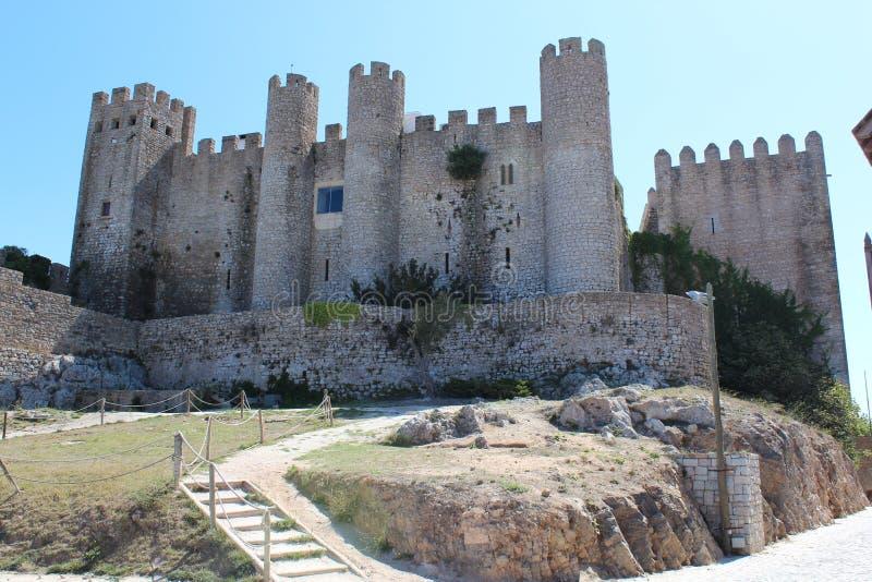 Średniowieczny kasztel w Portugalskiej wiosce Obidos fotografia stock