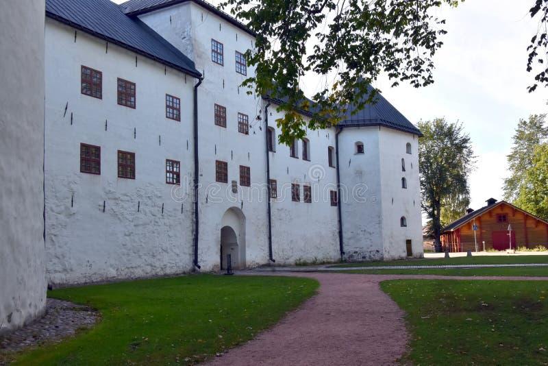 Średniowieczny kasztel w Turku, turun linna, Finlandia obraz stock