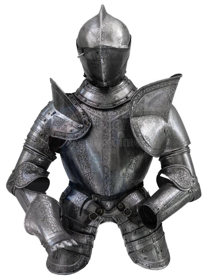 Średniowieczny kostium zbroja fotografia royalty free