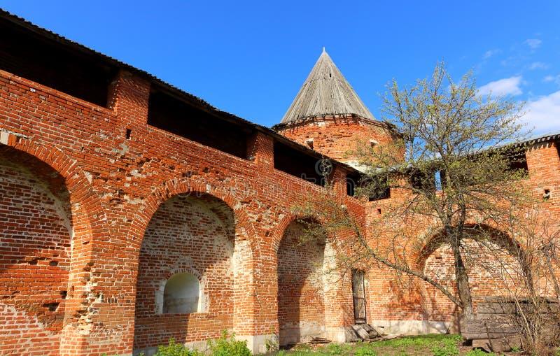 Średniowieczny Kremlin Zaraysk zdjęcia royalty free