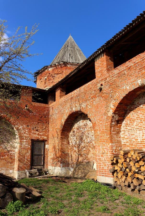 Średniowieczny Kremlin Zaraysk zdjęcie royalty free