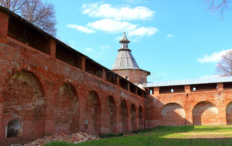 Średniowieczny Kremlin Zaraysk fotografia stock