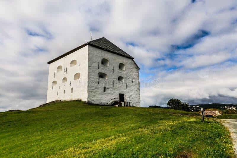 Średniowieczny Kristiansten forteca w Trondheim, obraz stock
