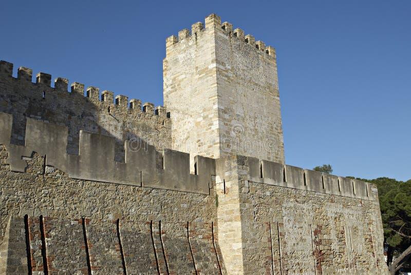 średniowieczny Lisbon grodowy widok obrazy stock