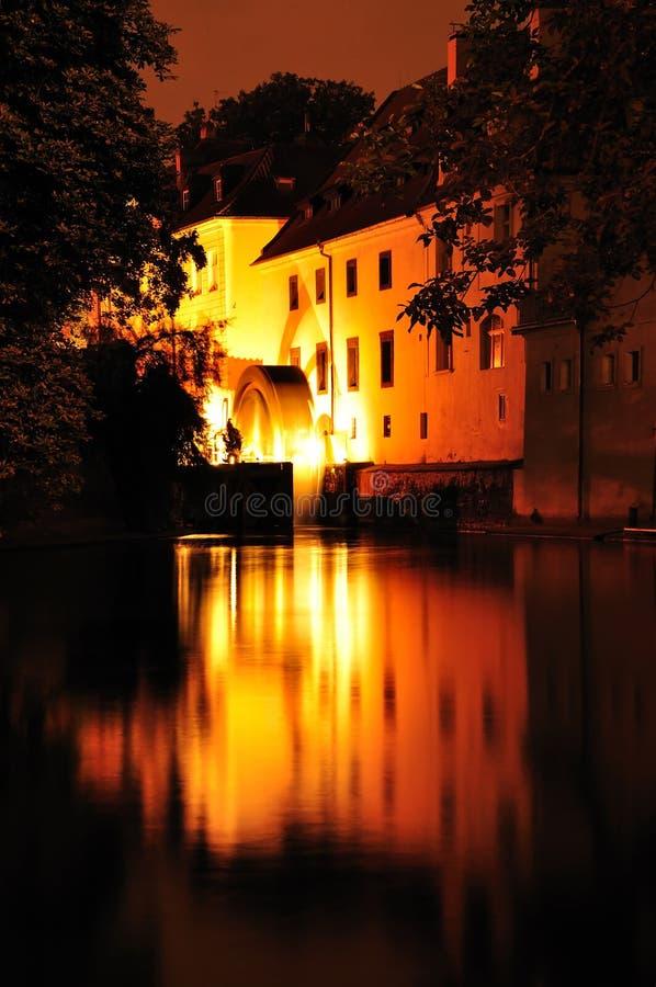 Średniowieczny młyn na Certovka kanale, Praga zdjęcia royalty free