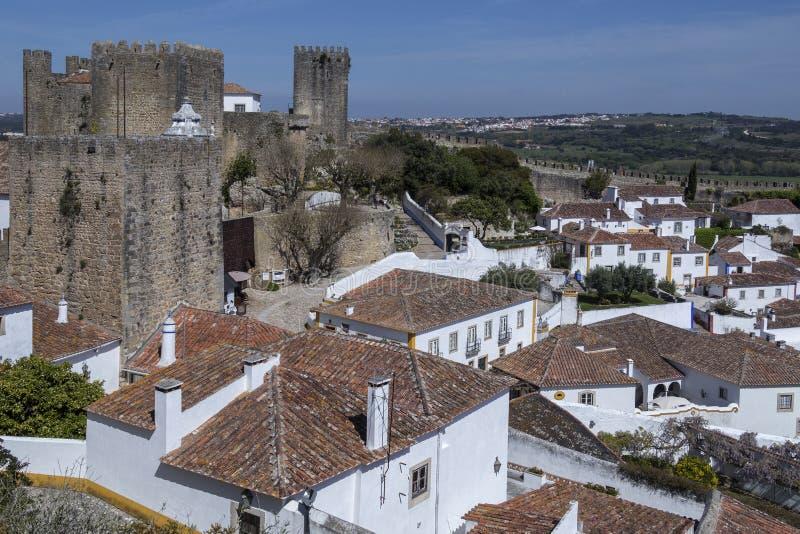 Średniowieczny miasteczko Obidos, Portugalia - zdjęcie royalty free