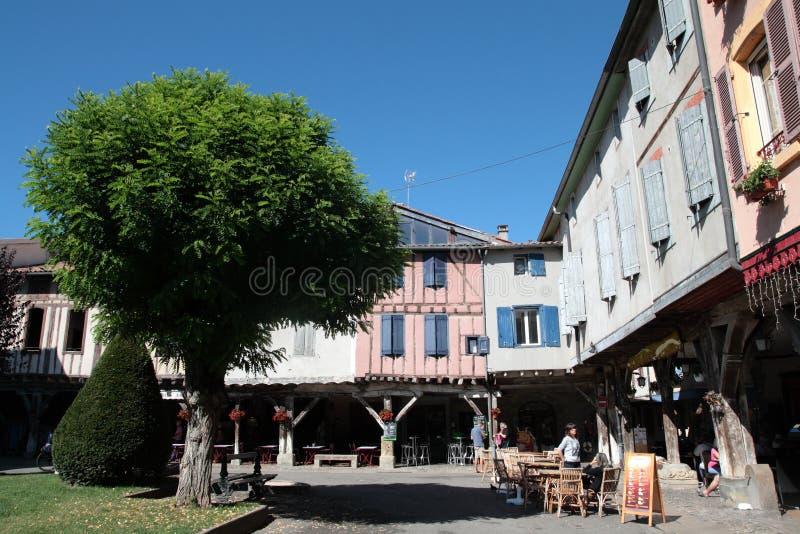Średniowieczny miasto Mirepoix obraz royalty free