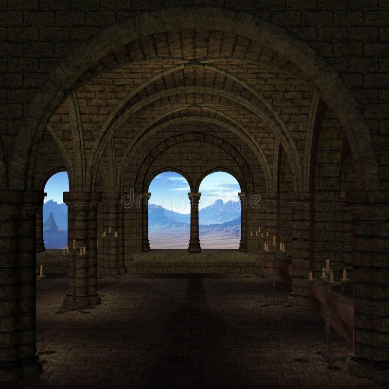 średniowieczny miejsce royalty ilustracja