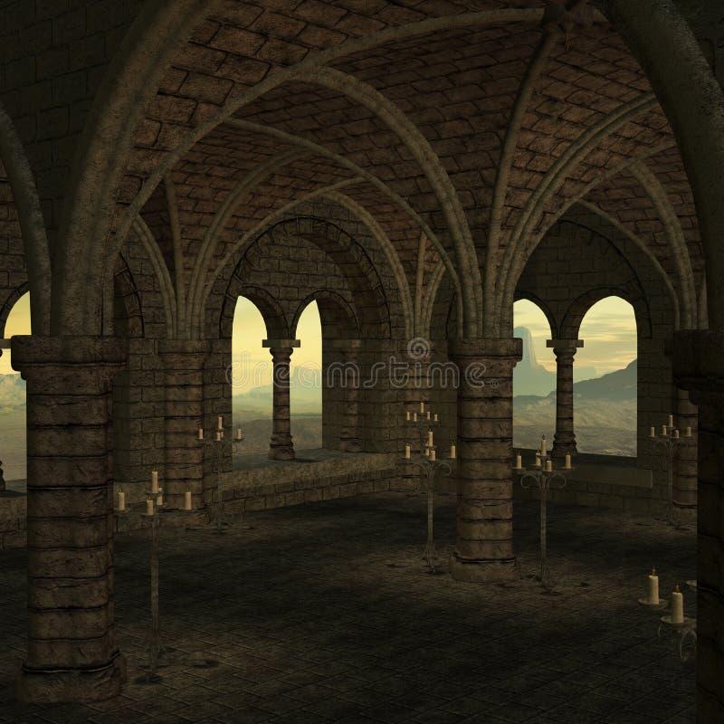 średniowieczny miejsce ilustracja wektor
