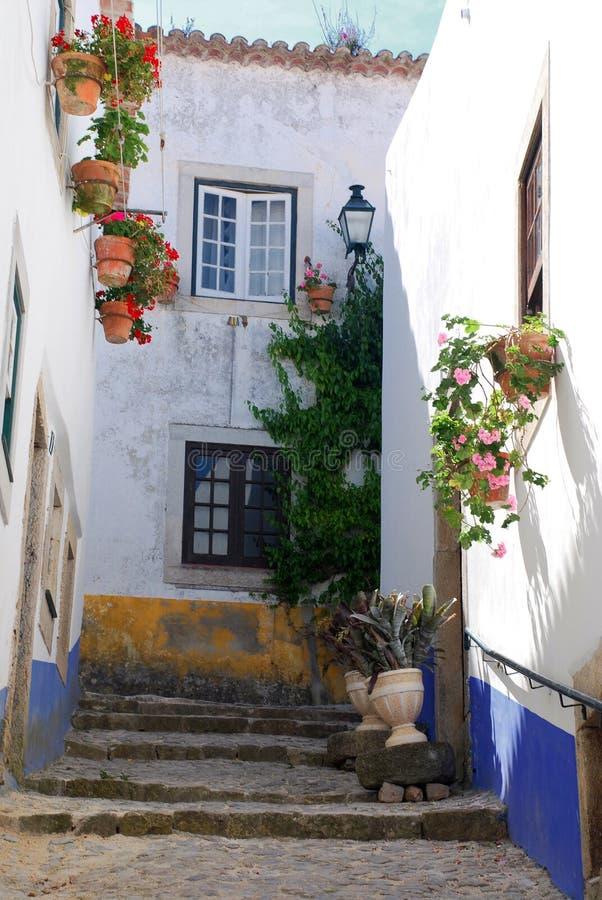 średniowieczny obidos Portugal miasteczko zdjęcie stock