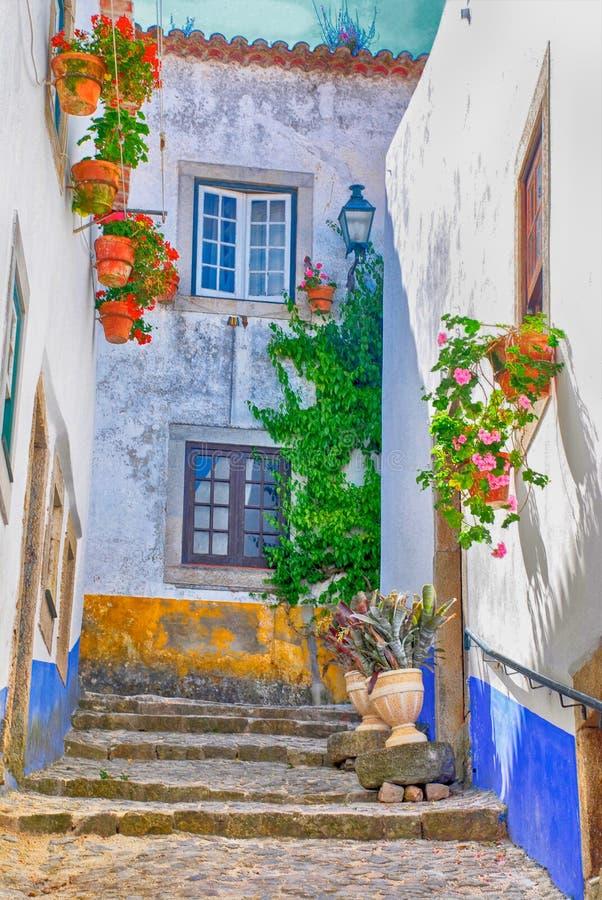 średniowieczny obidos Portugal miasteczko obraz royalty free