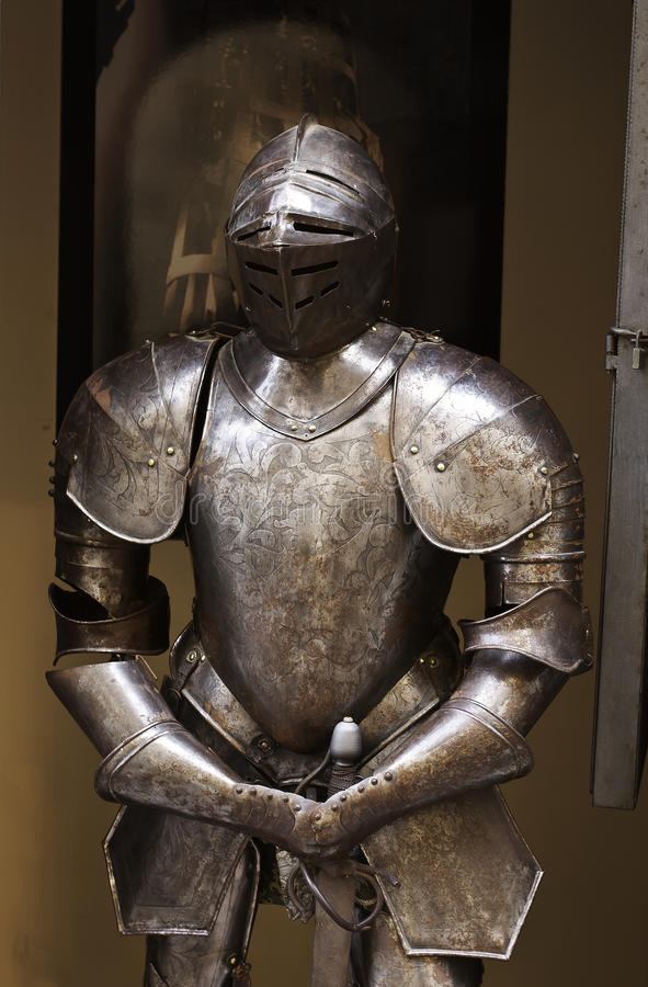 średniowieczny opancerzenie rycerz zdjęcia stock