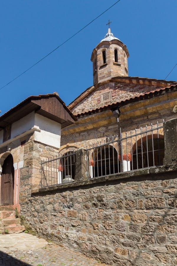 Średniowieczny Ortodoksalny kościół przy centrum miasteczko Kratovo, republika Macedonia zdjęcie royalty free