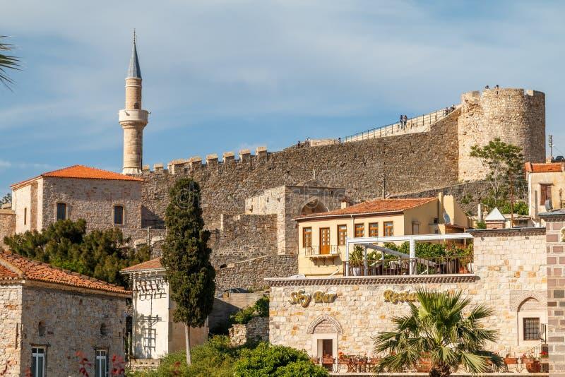 Średniowieczny Osmański forteca w Cesme zdjęcie royalty free