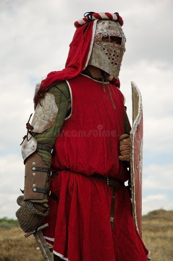 średniowieczny rycerz europejskiego fotografia royalty free
