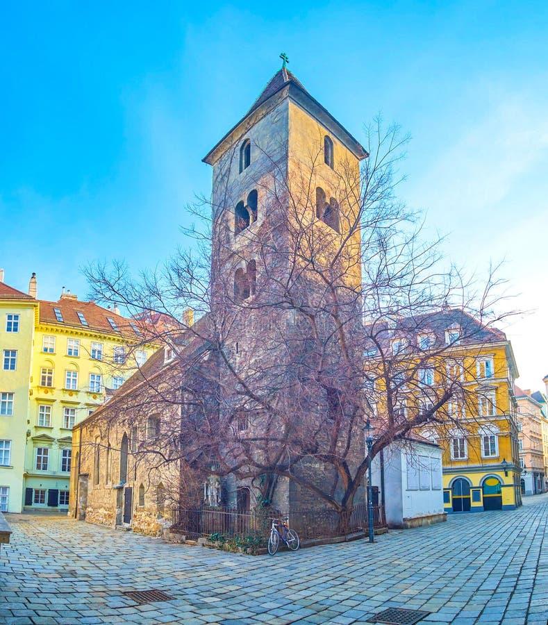 Średniowieczny St Rupert kościół w Wiedeń, Austria zdjęcie stock
