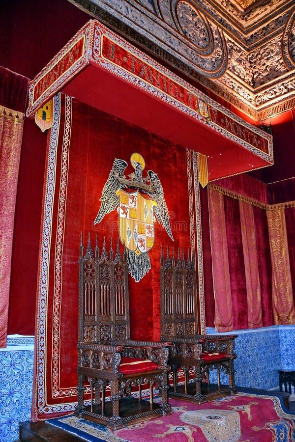 Średniowieczny tron zdjęcia royalty free