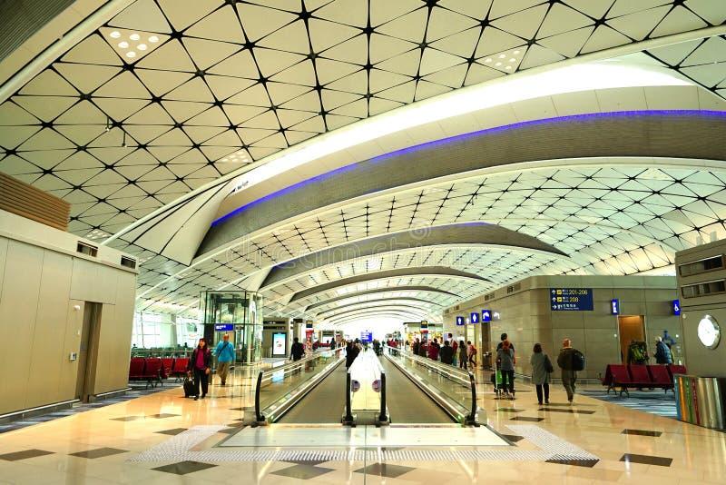 ?rodek boiska Concourse, Hong Kong lotnisko mi?dzynarodowe fotografia royalty free
