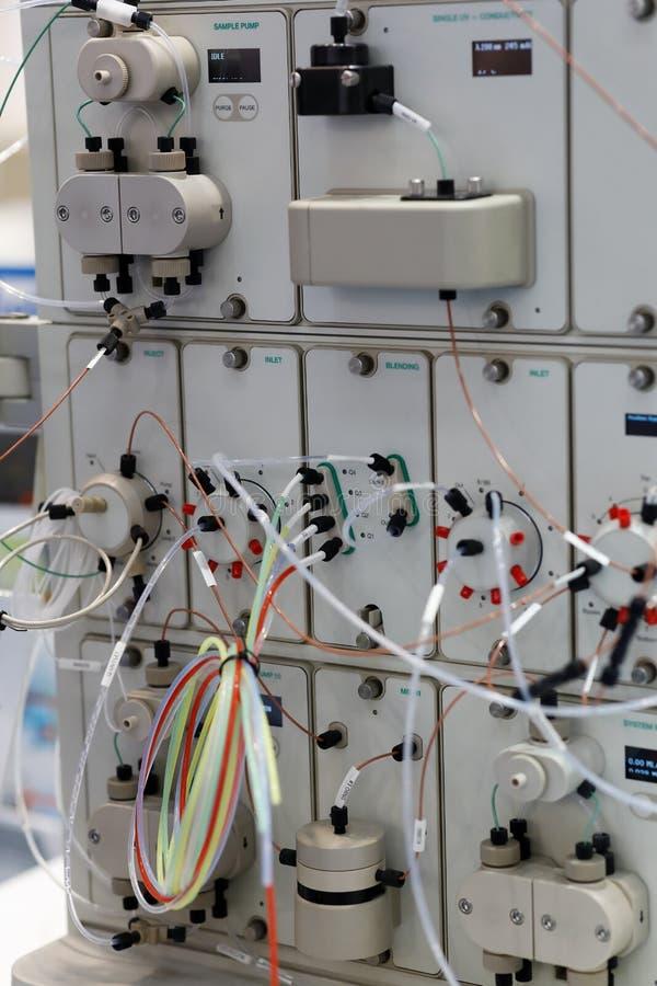 Środek fazy ciekłej chromatografii ciśnieniowy system zdjęcie stock