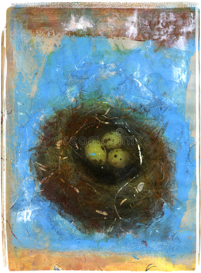 środek mieszane gniazdo ilustracja wektor