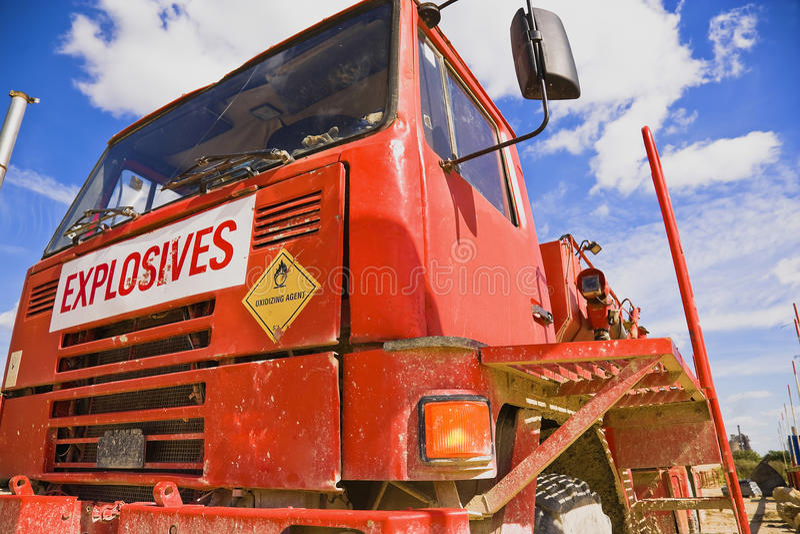 Środek wybuchowy ciężarówka fotografia royalty free