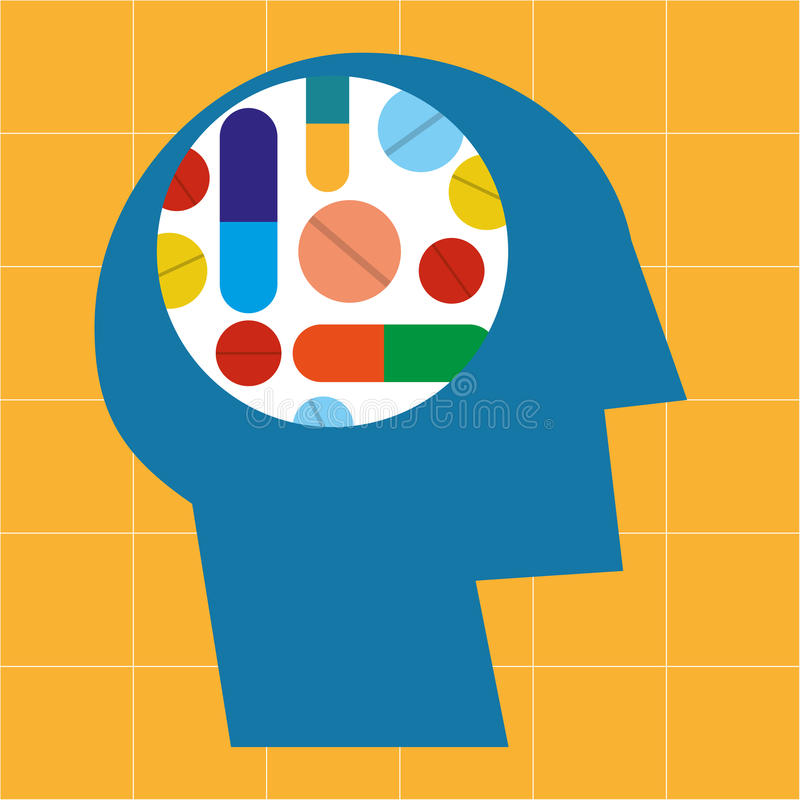 Środki farmaceutyczni i leki royalty ilustracja