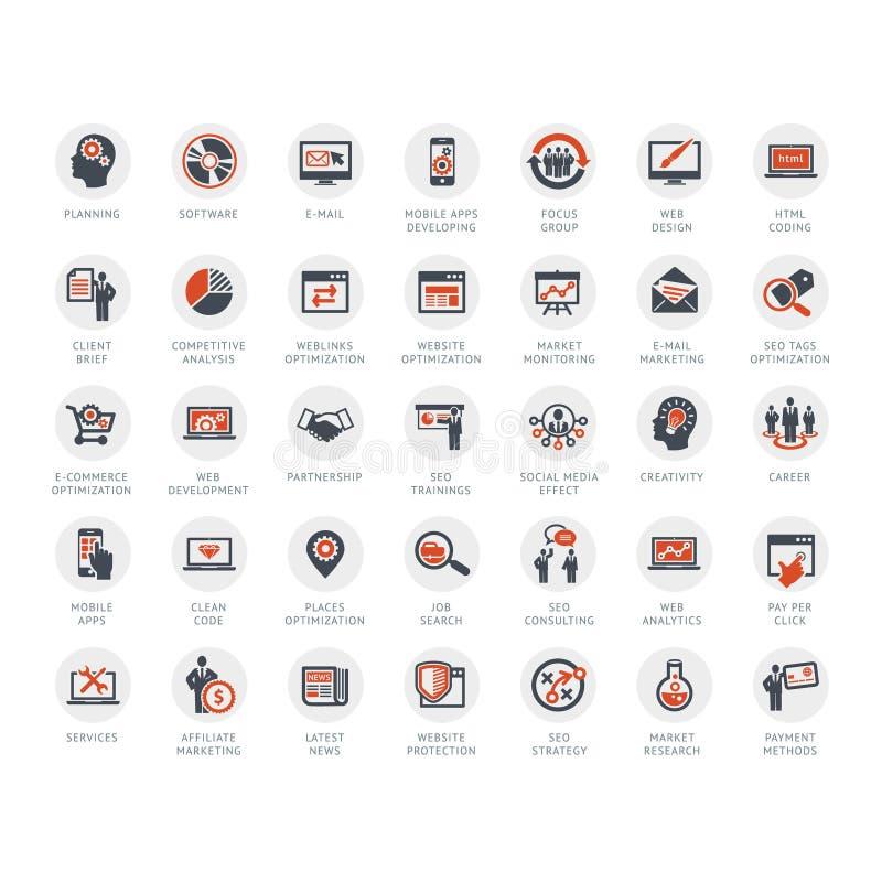Środki i Reklamowe ikony