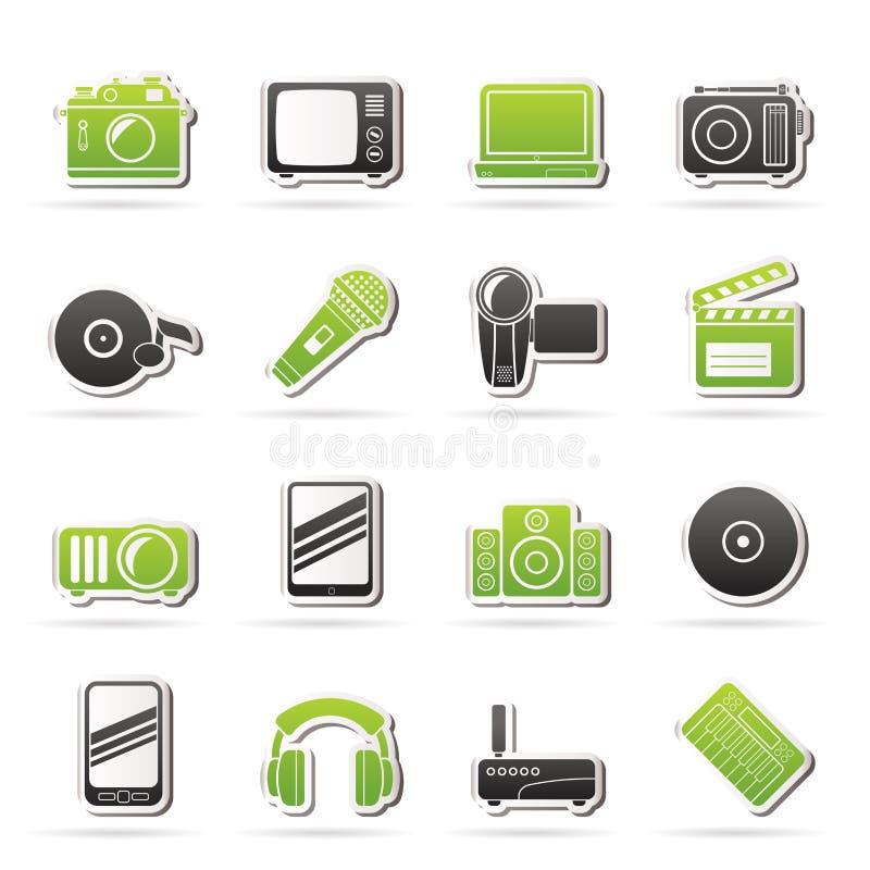 Środki i technologii ikony royalty ilustracja