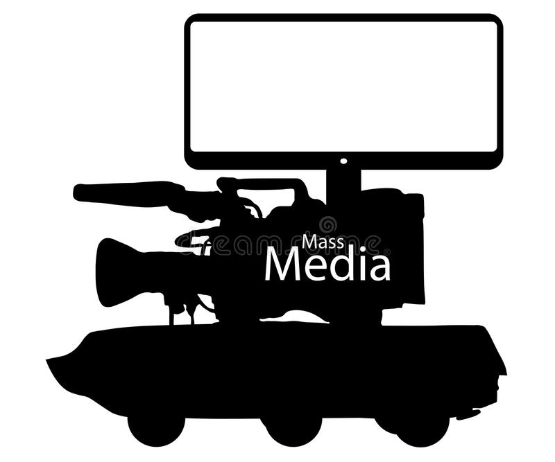 Środki masowego przekazu wiadomości imitacja, ewidencyjna wojna Cyfrowego oszustwa technologie royalty ilustracja