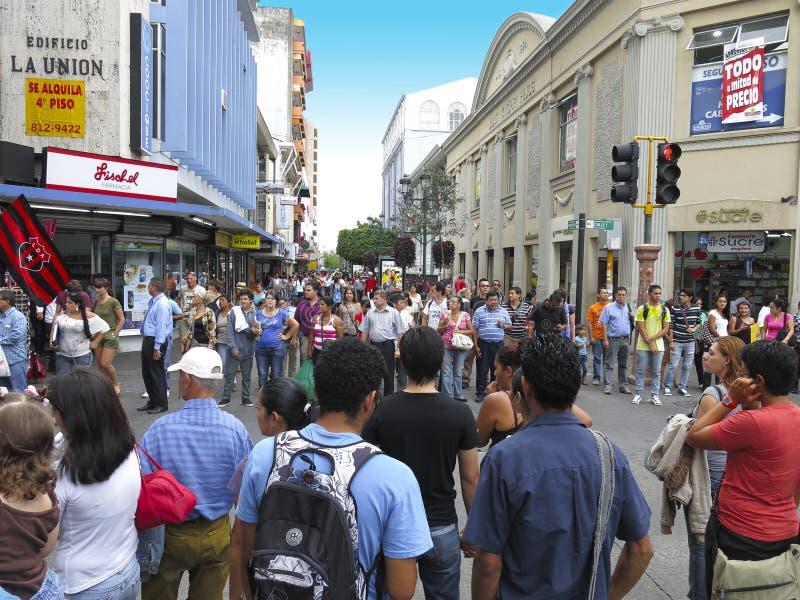 Środkowa aleja i rynek, San Jose, Costa Rica podróż obrazy royalty free