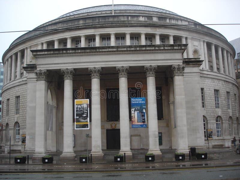 środkowa biblioteka Manchester obrazy stock