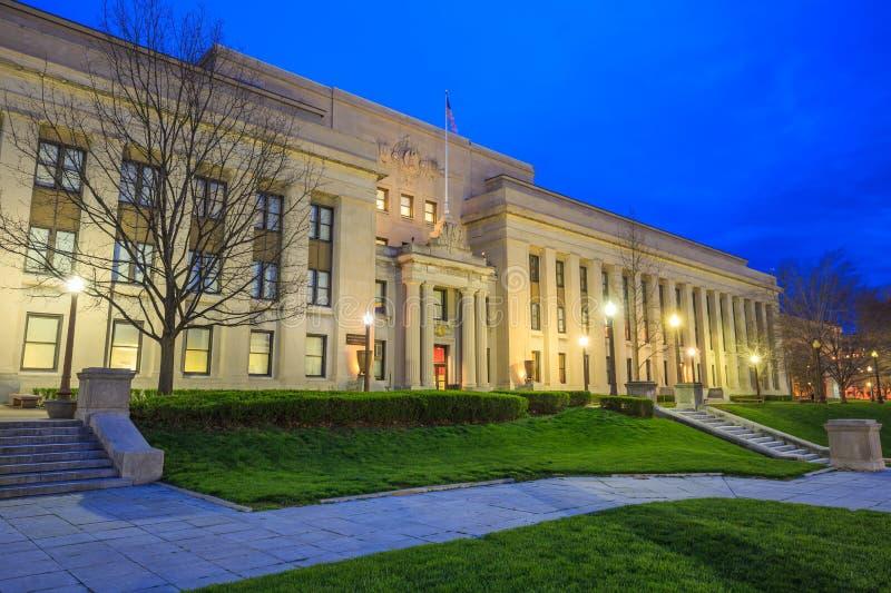 Środkowa biblioteka w Indianapolis zdjęcia royalty free