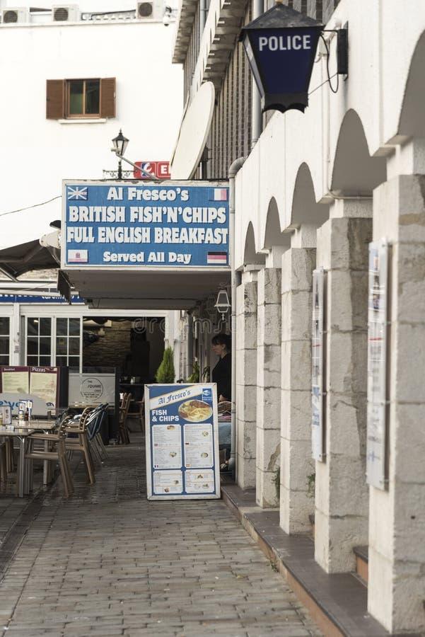Środkowa komenda policji Gibraltar zdjęcia stock