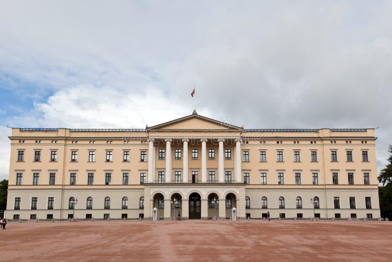 środkowego Oslo pałac królewski slottet obrazy stock