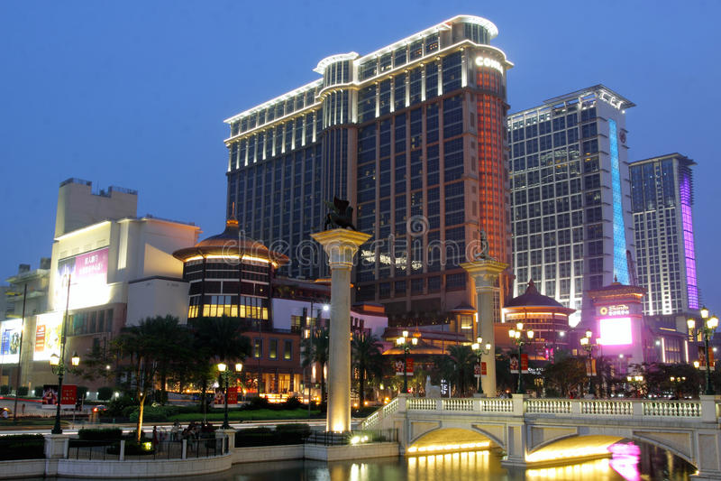 środkowi contai Macau piaski zdjęcie royalty free