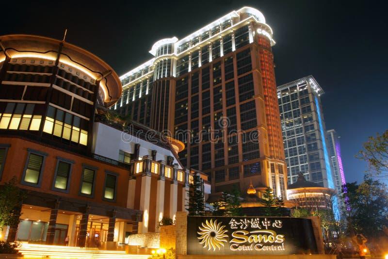 środkowi contai Macau piaski obraz stock